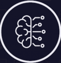 Logo with half a brain and some connectors coming out of it.